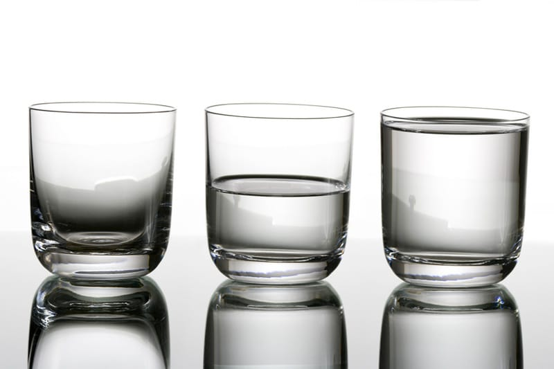 Glass of water — Half empty or Half full?